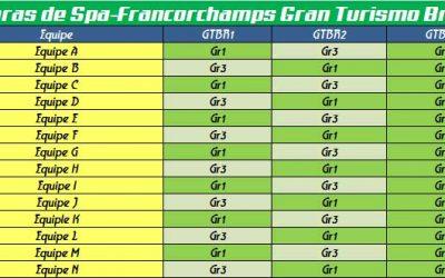 Regulamento 6 Horas de Spa-Francorchamps – Gran Turismo Brasil